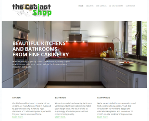 The Cabinet Shop home page